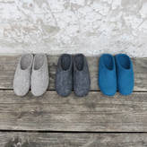 Aura Que Mita Handmade Felt Slippers With Suede Sole