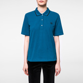 Paul Smith Women's Teal Embroidered PS Logo Polo Shirt
