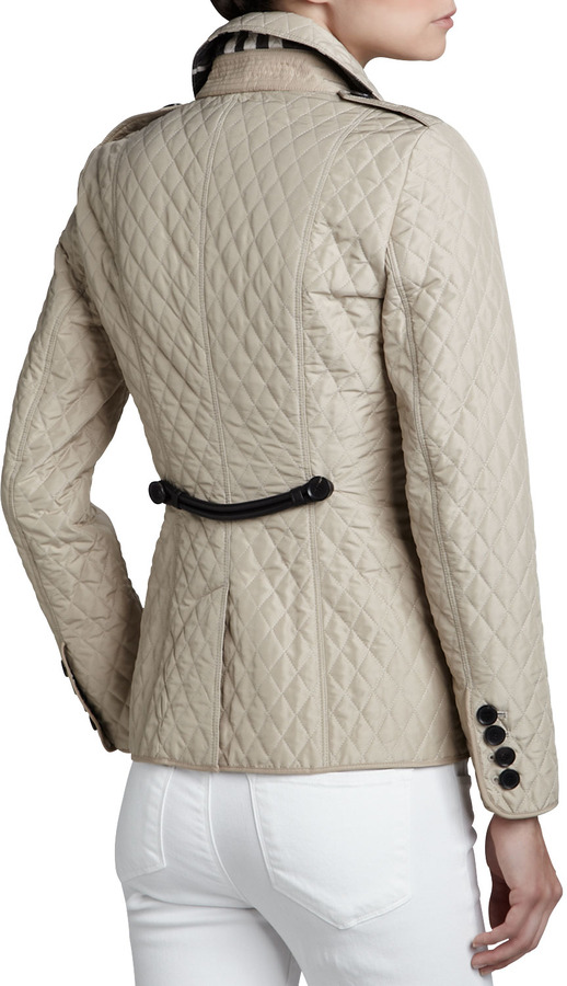 Burberry Lightweight Quilted Check-Lined Jacket