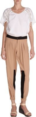 Chloé Colorblocked Pleated Pants