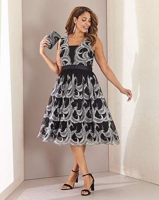 N. Joanna Hope Feather Fit Flare Dress
