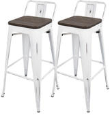 Lumisource Oregon Industrial Low Back Barstools (Set of 2)