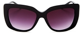 Moschino Rectangle Sunglasses with Clip-On Earrings, 55mm