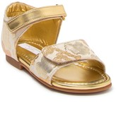 Dolce & Gabbana Metallic Lace Sandal (Toddler)