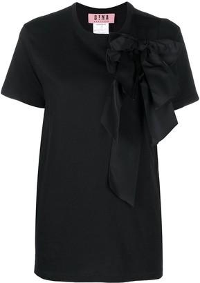 Gina bow-detail short-sleeve T-shirt
