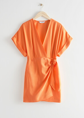 And other stories Relaxed Wrap Mini Dress