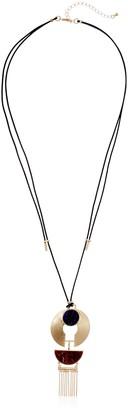 "Danielle Nicole Mesi Gold Pendant Necklace 27.5"" + 4"" Extender"