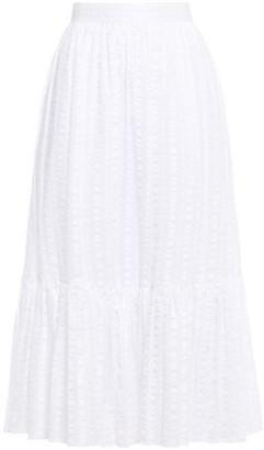 Tory Burch Cotton-seersucker Midi Skirt