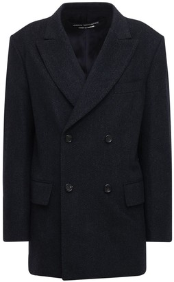 Junya Watanabe Double Breasted Wool Herringbone Jacket