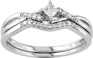 Diamond Engagement Ring Set in 10k White Gold (1/5 Carat T.W.)