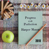 2018 Diary and Leather Notebooks by Hope House Press Personalised 2018 Diary, Progress Not Perfection