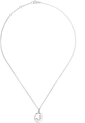 Annoushka 18kt white gold diamond initial J necklace