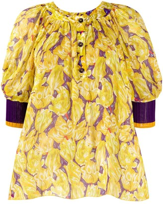 Missoni Floral-Print Silk Blouse