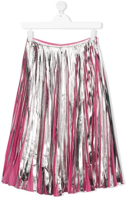 Marni TEEN pleated midi skirt