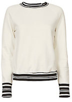 NSF Striped Raglan Knit Sweatshirt