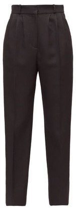 Alexander McQueen Satin-stripe Tapered Tuxedo Trousers - Black