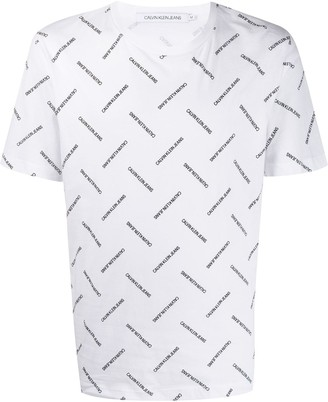 Calvin Klein Jeans all-over logo T-shirt