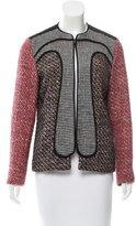 M Missoni Tweed Collarless Jacket