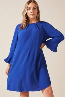 Studio 8 Womens Blue Avery Pleated Back Dress - Blue