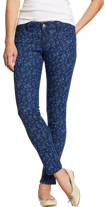 Old Navy Women's The Rockstar Floral-Print Skinny Jeans