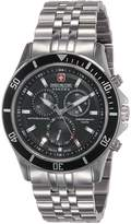 Swiss Military Hanowa Men's Flagship 06-5183-04-007 Silver Stainless-Steel Swiss Chronograph Watch with Black Dial