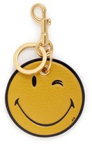 Anya Hindmarch 'Wink' embossed leather keyring