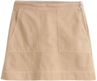 Alex Mill Twill Mini Skirt in Vintage Khaki