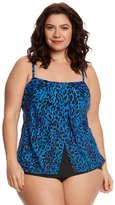 Miraclesuit Plus Size PurrFection Jubilee Tankini Top - 8150937