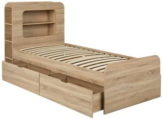 Aspen Kids Storage Bed Frame - Oak Effect