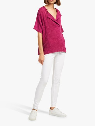 French Connection Rosette Short Sleeve T-Shirt, Pure Passion