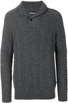Barbour shawl collar jumper