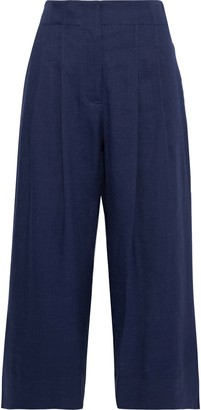 Rebecca Taylor Pleated Linen-blend Culottes