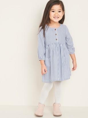 Old Navy Striped Henley Swing Dress for Toddler Girls
