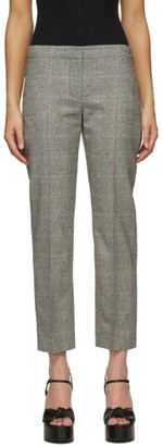 Alexander McQueen Grey Distressed Prince Of Wales Cigarette Trousers