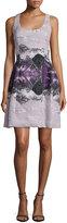 Prabal Gurung Sleeveless Molded-Seam Dress, Mid Purple