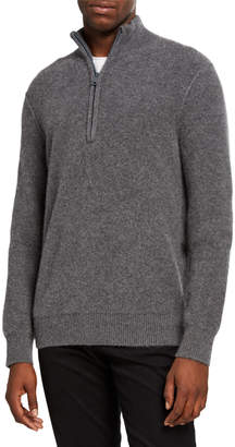Vince Men's Half-Zip Cashmere Sweater