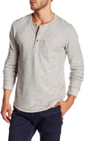 Lucky Brand Long Sleeve Double Knit Henley