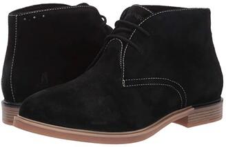 Hush Puppies Bailey Chukka Boot (Black Suede) Women's Boots