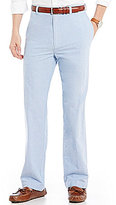 Roundtree & Yorke Flat-Front Oxford Pants