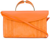 Mansur Gavriel flap closure clutch - women - Leather - One Size