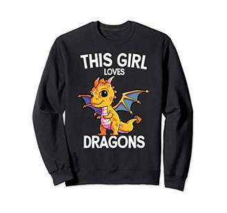 Dragon Optical This Girl Loves For Women and Girls Sweatshirt