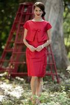 Shabby Apple Hustle and Bustle Dress Red