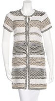 Diane von Furstenberg Tweed Short Sleeve Coat