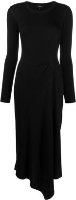 Theory Asymmetric Midi Dress