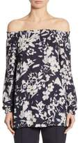 Lafayette 148 New York Raelyn Floral-Print Off-The-Shoulder Blouse