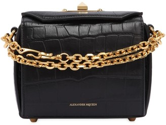 Alexander McQueen Box 16 Croc Embossed Leather Bag