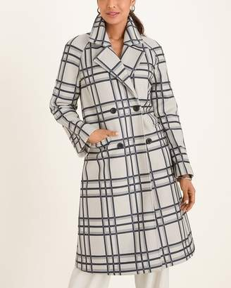 Chico's Chicos Plaid Menswear-Inspired Coat