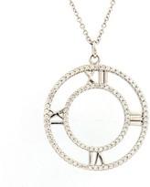 Tiffany & Co. Atlas 18K White Gold Diamonds Pendant Necklace