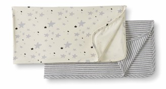 Moon and Back by Hanna Andersson Baby 2-Pack Organic Cotton Blanket