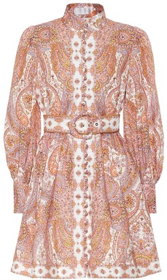 Zimmermann Exclusive to Mytheresa Paisley linen minidress